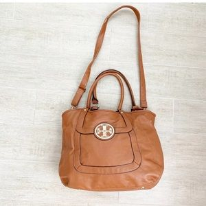 Tory Burch Brown Hand Bag Removable Strap